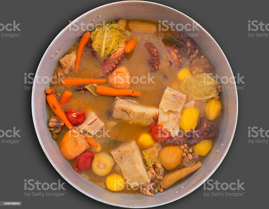 Octopus stew from mediterranean recipe Octopus stew from mediterranean traditional recipe in Alicante spain Alicante Province Stock Photo