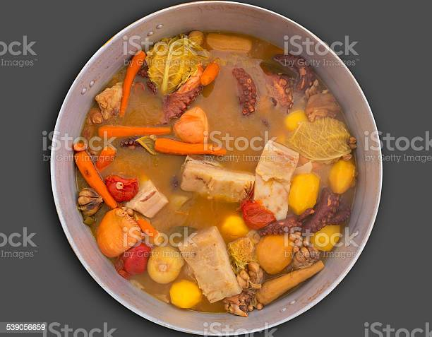 Octopus Stew From Mediterranean Recipe Stock Photo - Download Image Now
