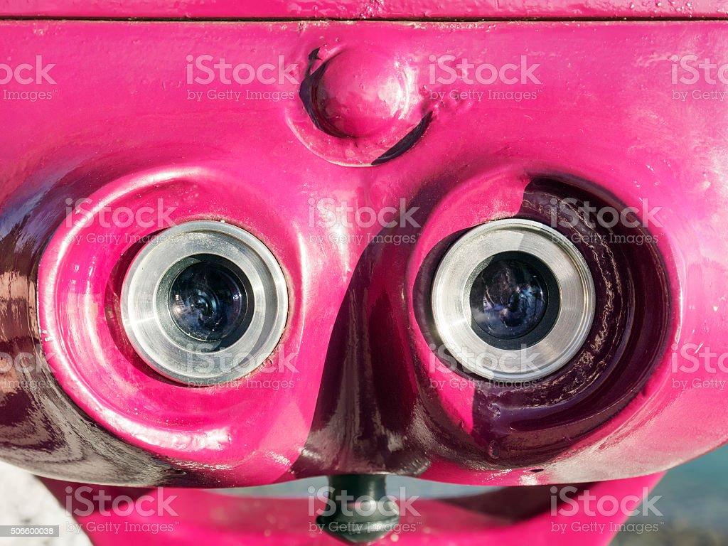 Ocular of telescope stock photo