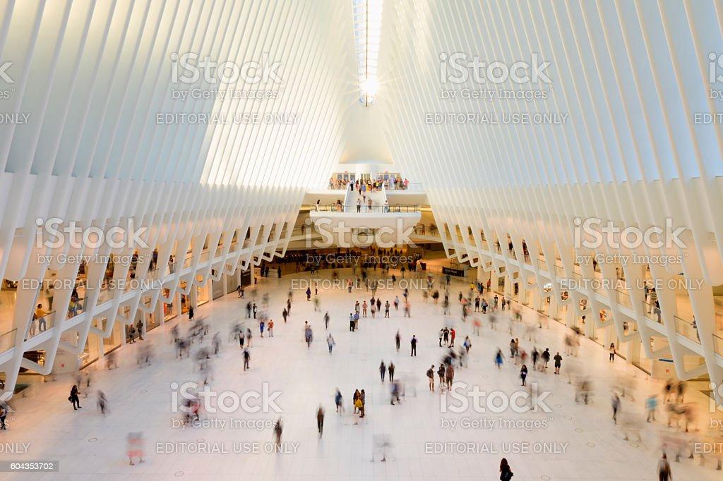 Oculus transportation hub. stock photo