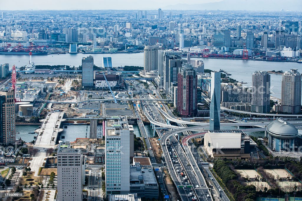 Odaiba seen from empty stock photo