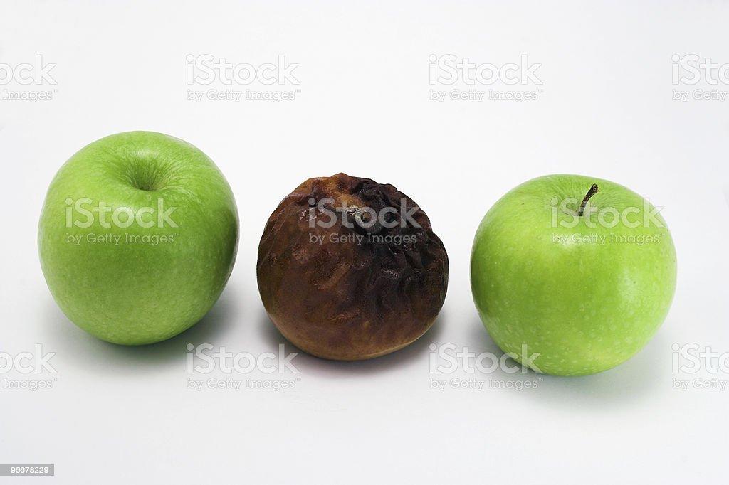 Odd apple royalty-free stock photo