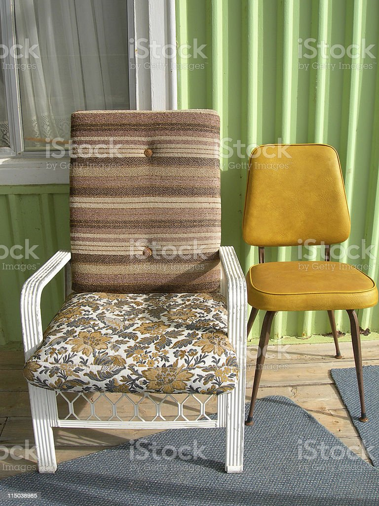 Odd chairs royalty-free stock photo