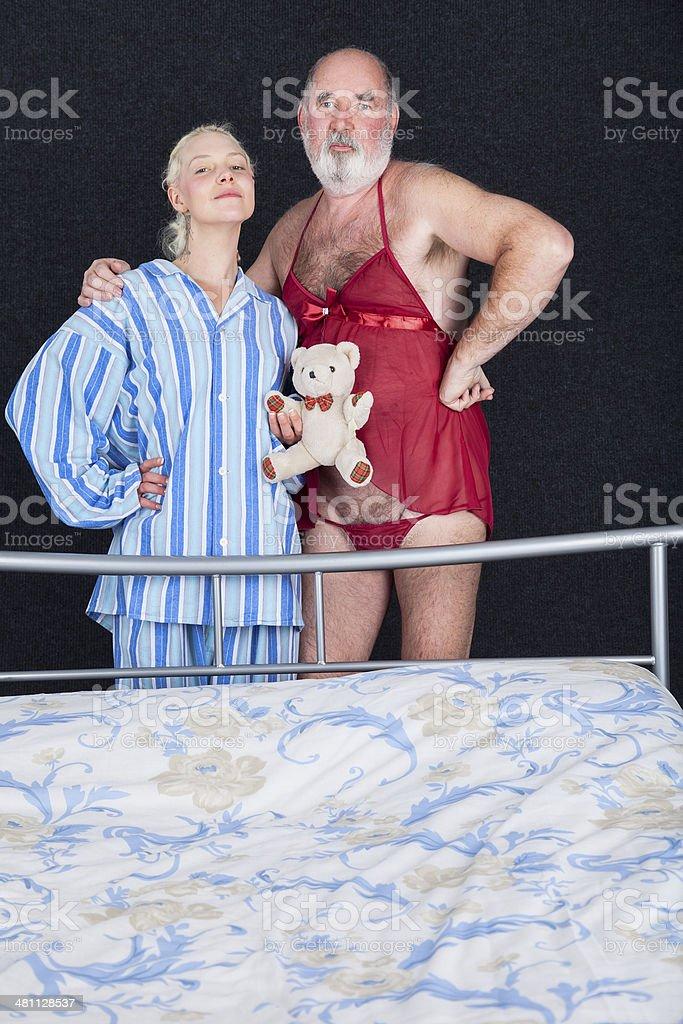 Odd Couple Crossdressed royalty-free stock photo