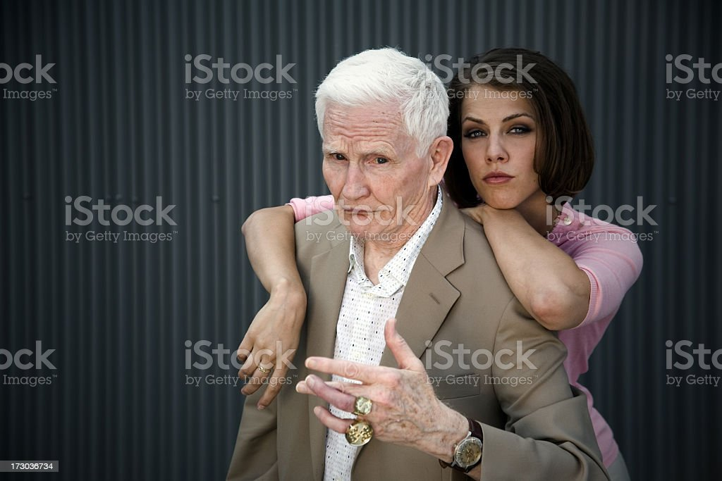 Odd Couple stock photo