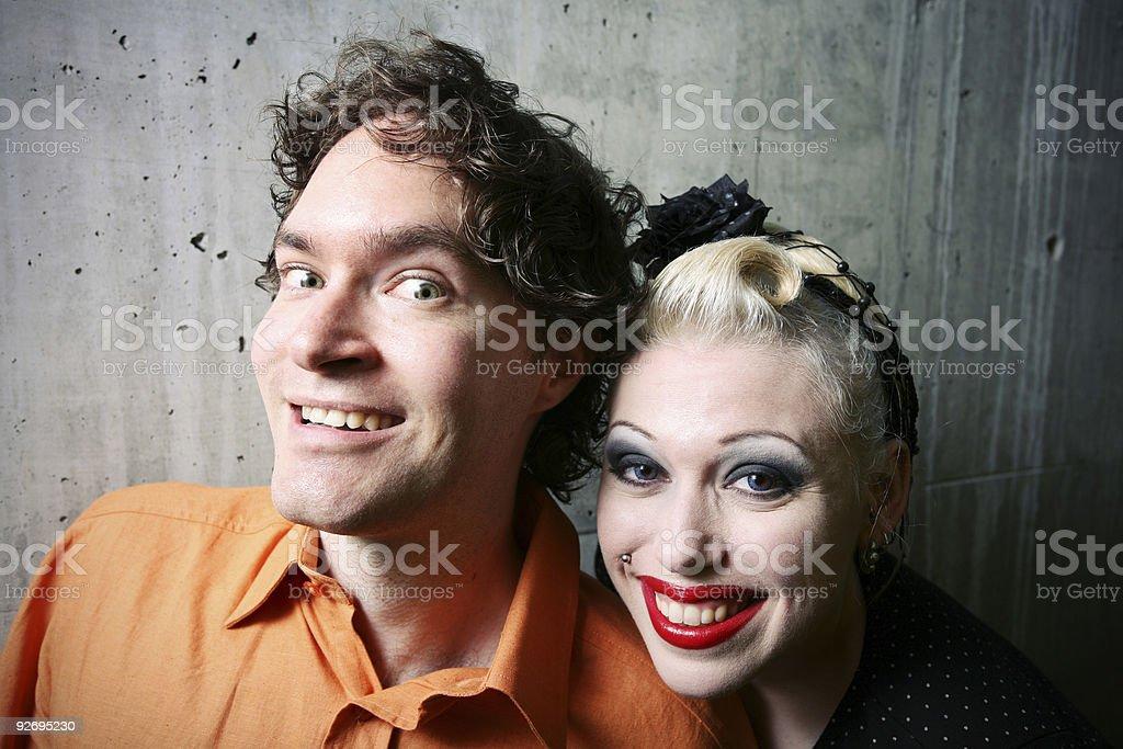 Odd Couple royalty-free stock photo