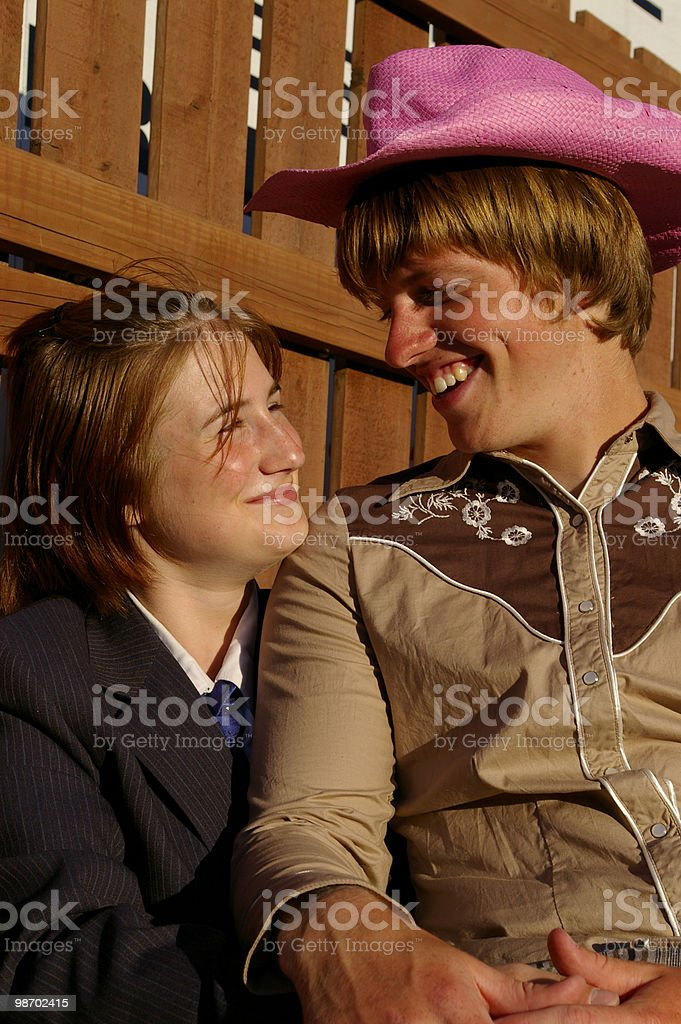 Odd Couple royalty-free stock photo
