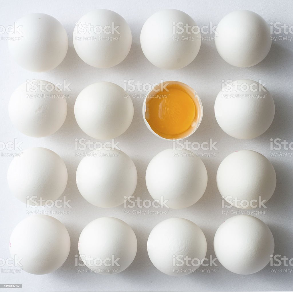 Odd Egg Out royalty-free stock photo