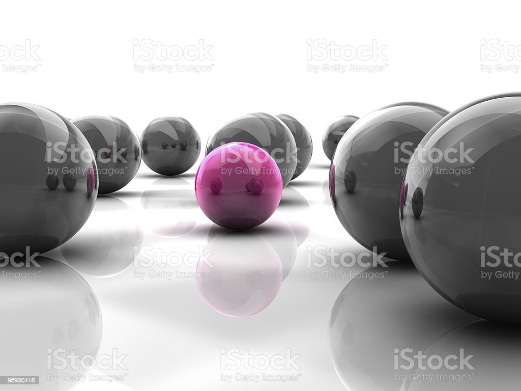odd one out Sphere royalty-free stock photo
