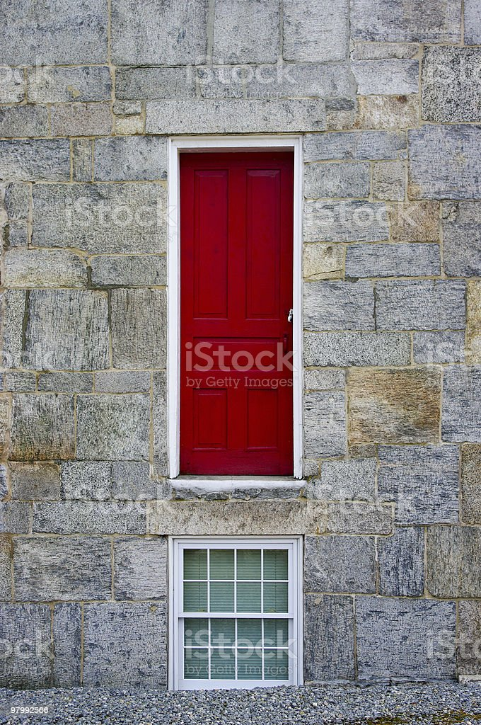 Odd red door royalty-free stock photo
