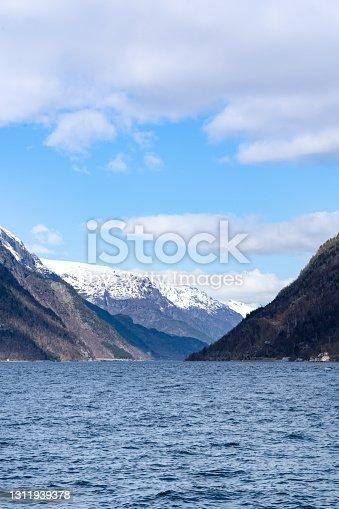Odda, a Norwegian town and municipality in the Hordaland region, overlooking Sorfjorden, part of Hardangerfjorden