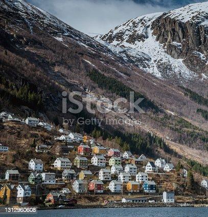 Odda, a Norwegian town and municipality in the Hordaland region, overlooking Sorfjorden. Scandinavia