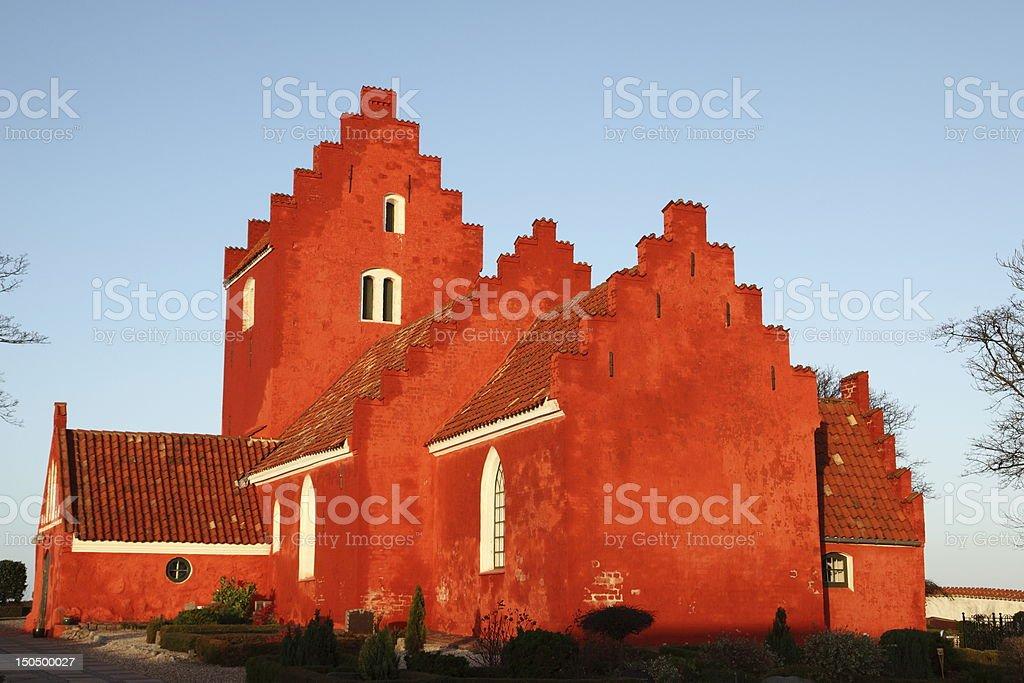 Odden Kirke parish church in morning light stock photo