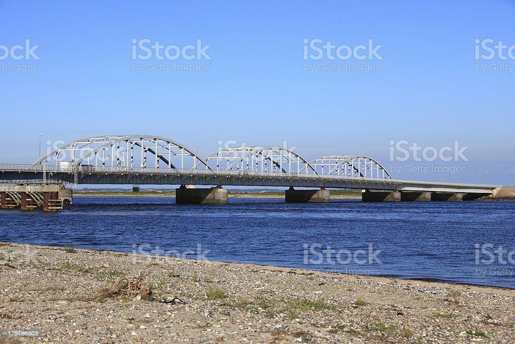 Oddesundbroen bridge, Jutland - Denmark stock photo