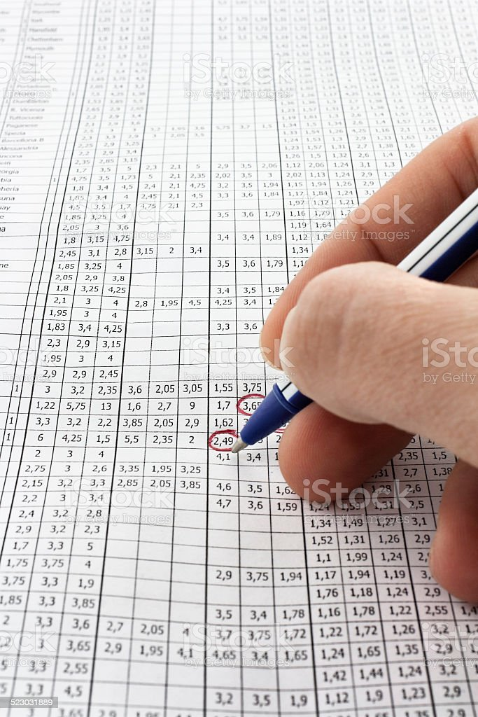 Odds of win stock photo