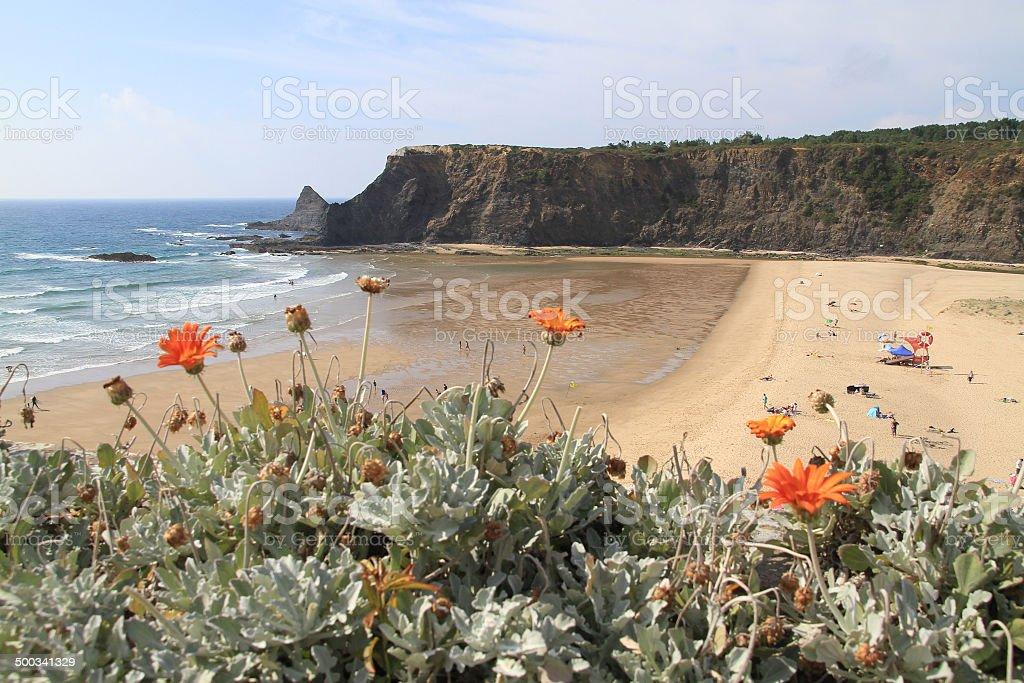 Odeceixe beach stock photo