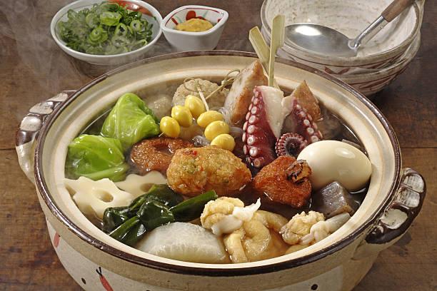 Oden (Japanese pot-au-feu) Oden (Japanese pot-au-feu) feu stock pictures, royalty-free photos & images