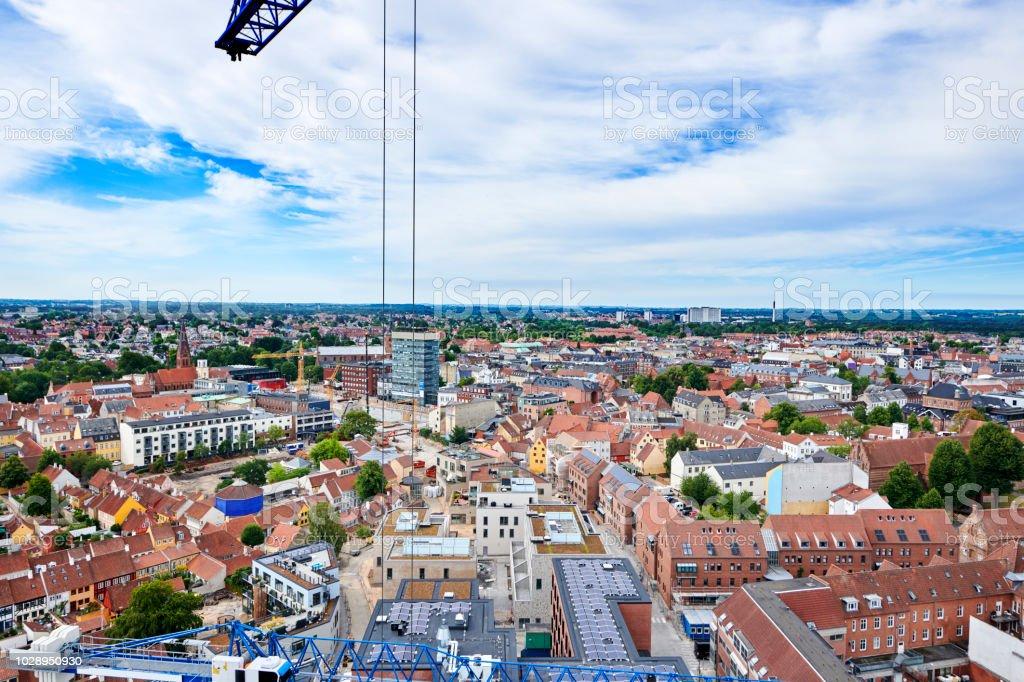 Odense City stock photo