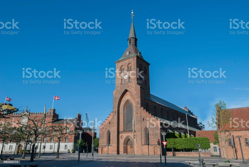 Odense Denmark St Canutes Cathedral stock photo