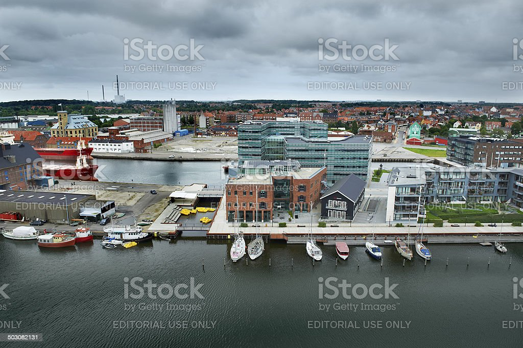 Odense Harbour stock photo