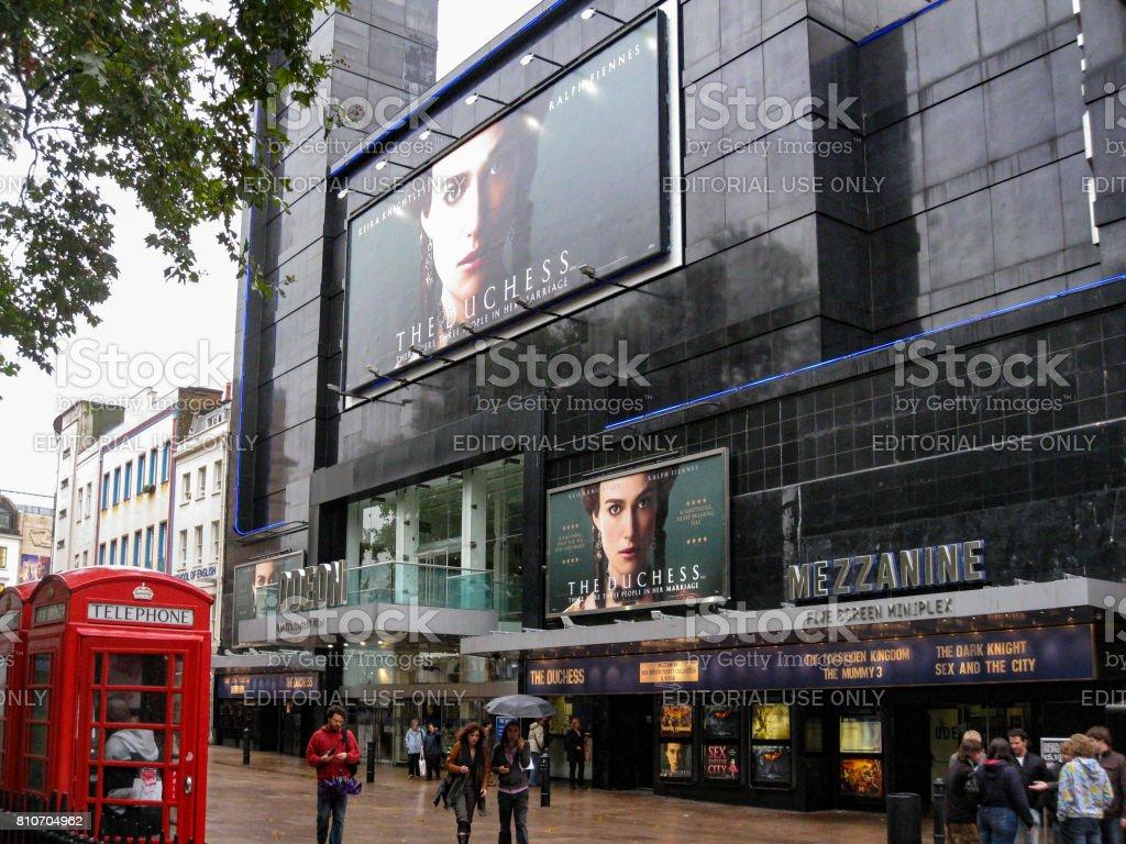 Odeon Cinema Leicester Square London stock photo