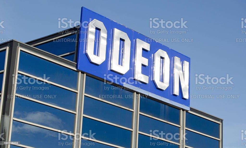 Odeon Cinema Sign stock photo