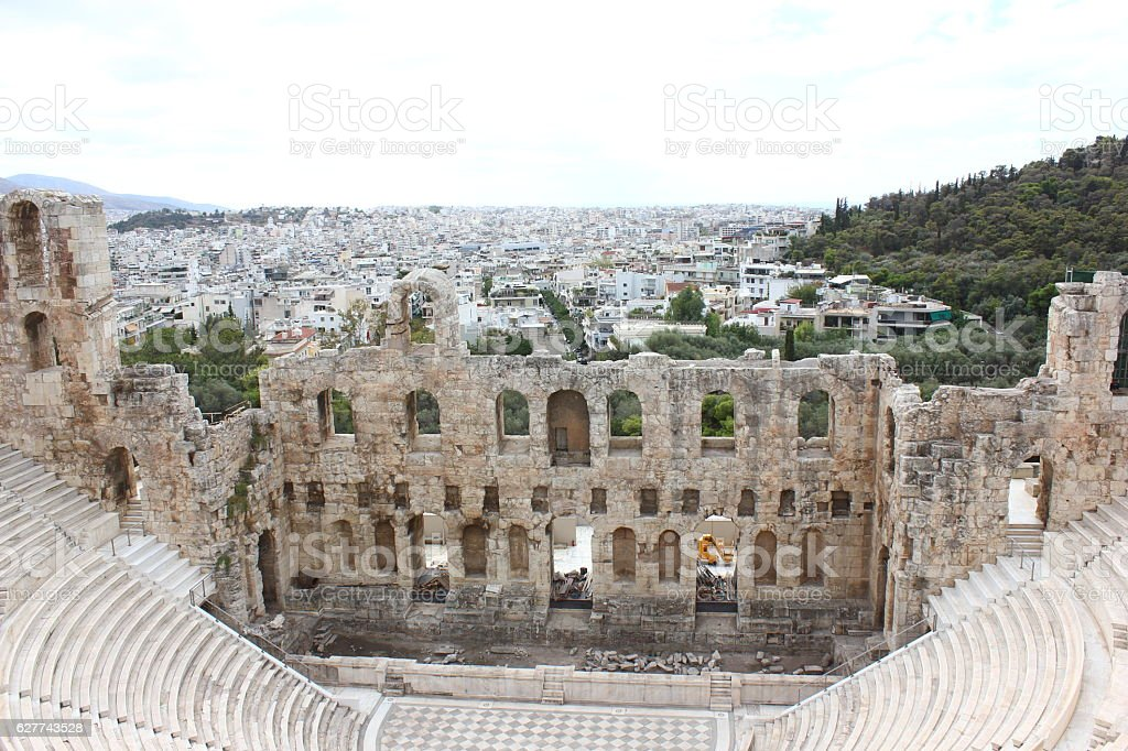 Odeon of Herodes Atticus stock photo