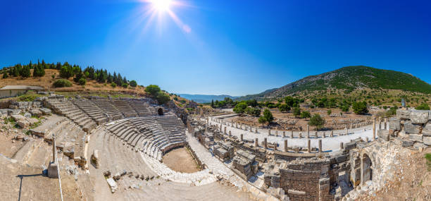 Odeon Theater in ancient city Ephesus, stock photo