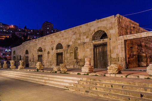 Odeon Theater in the center of Amman, Jordan