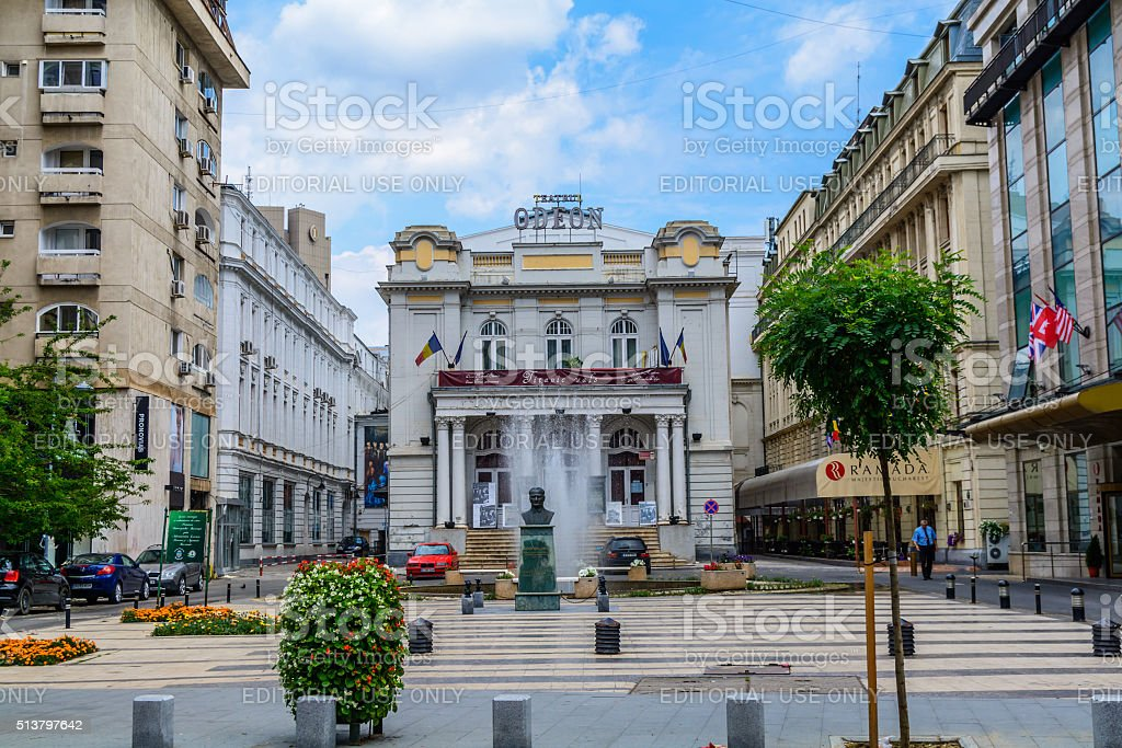 Odeon Theater  one of the best-known performing arts venues  Bucharest stock photo
