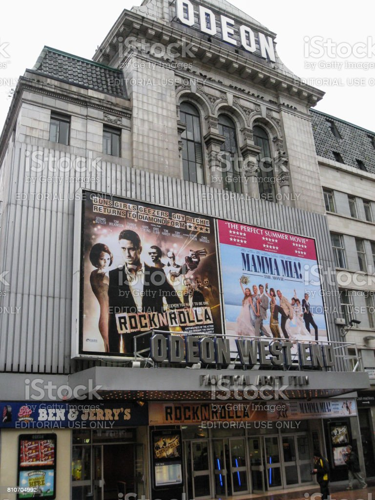 Odeon West End Leicester Square London stock photo