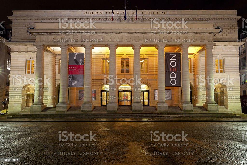 Odeon-Theatre de l Europe in Paris stock photo