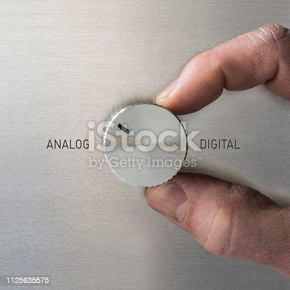 Drehknopf ANALOG oder DIGITAL