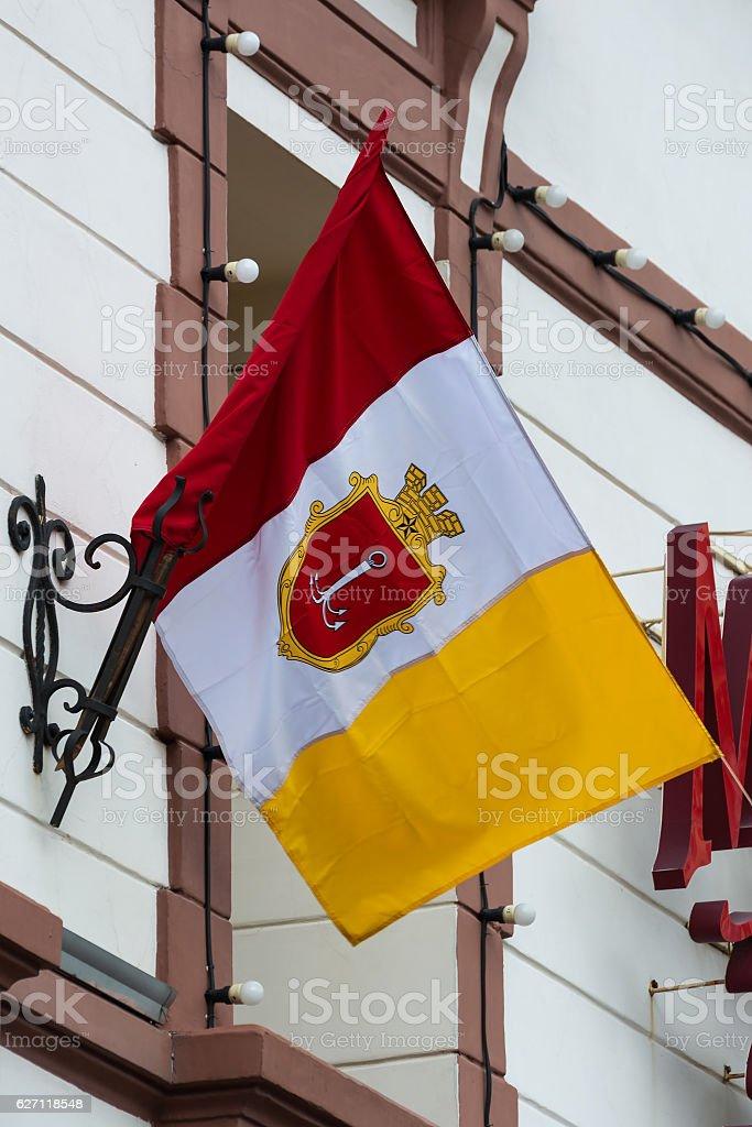 Odessa flag, Ukraine. stock photo