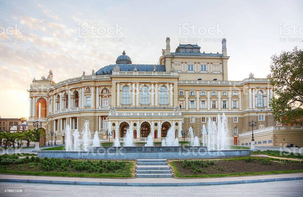 Odessa National Academic Theater of Opera and Ballet stock photo