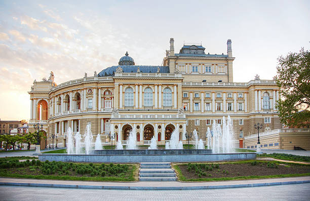 odessa national academic theater of opera and ballet - ukrayna stok fotoğraflar ve resimler