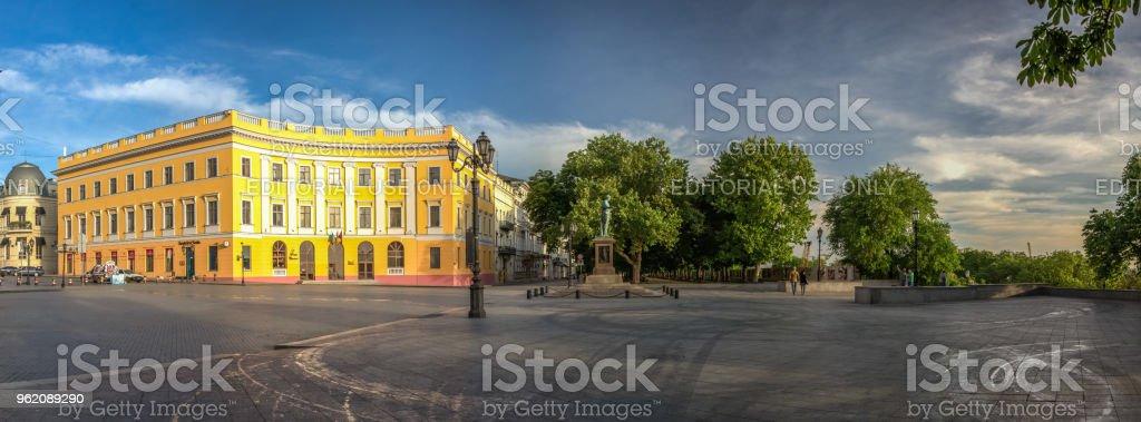 Odessa Seaside Boulevard in Ukraine stock photo