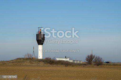 Odessa Ukraine. 2020.22.01.Lighthouse near the port of Yuzhny