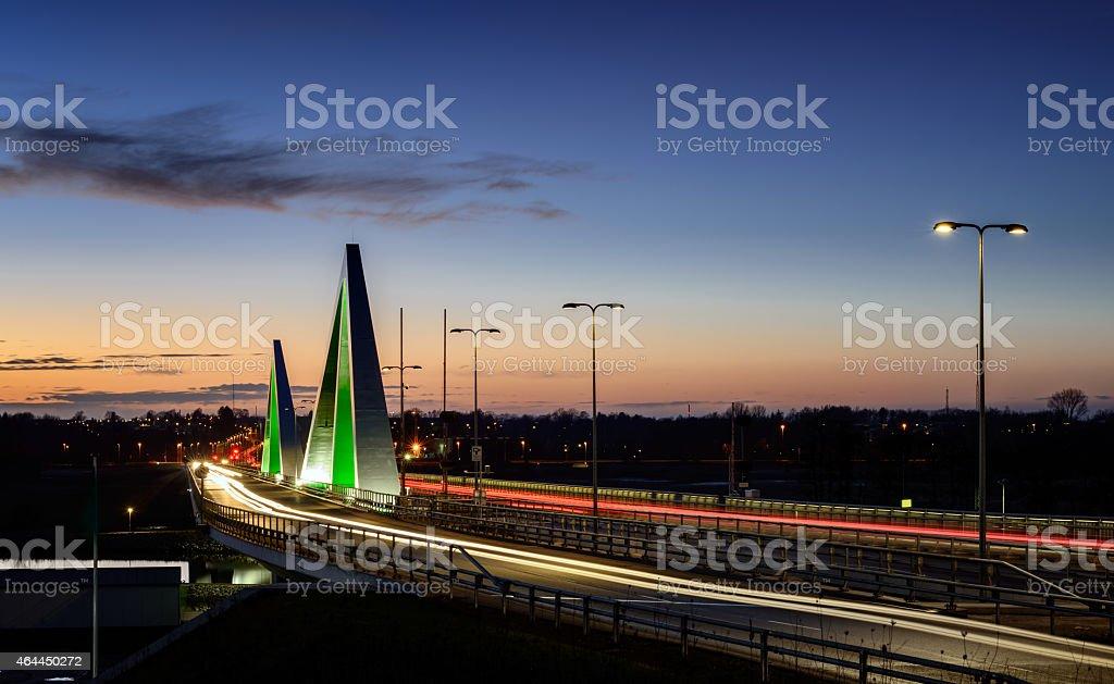 Odins Bridge stock photo