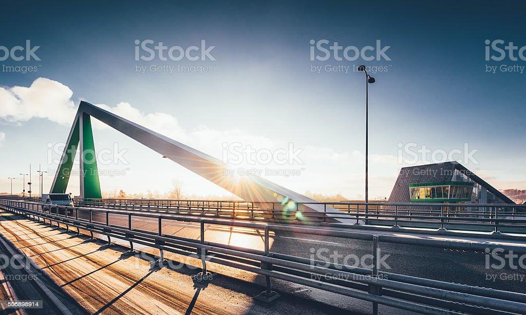 Odins bro (Odins bridge) in Odense, Denmark stock photo