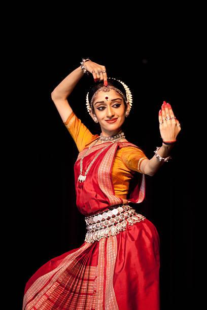 Odissi dancer stock photo