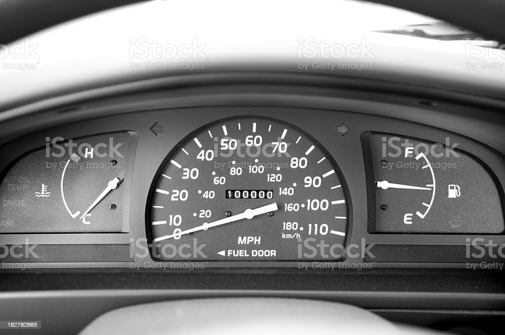 Odometer royalty-free stock photo
