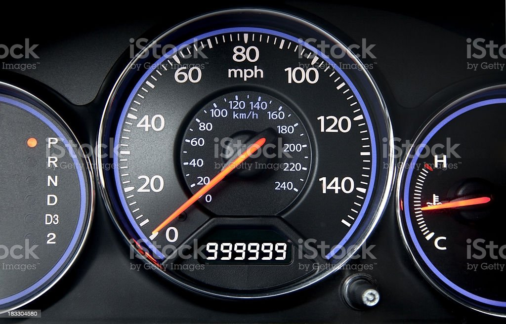 Odometer stock photo