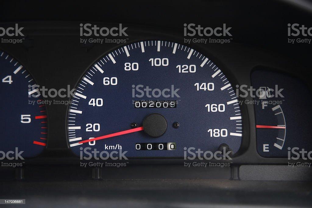 Odometer reading 2009 royalty-free stock photo