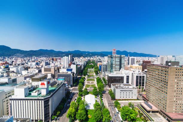 odori park in hokkaido japan - sapporo stock photos and pictures