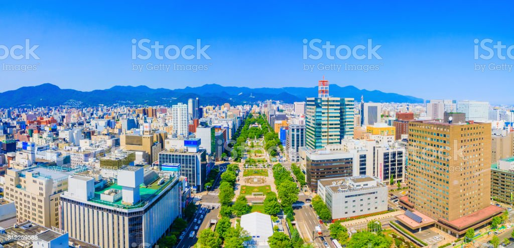 Odori Park in Hokkaido Japan royalty-free stock photo