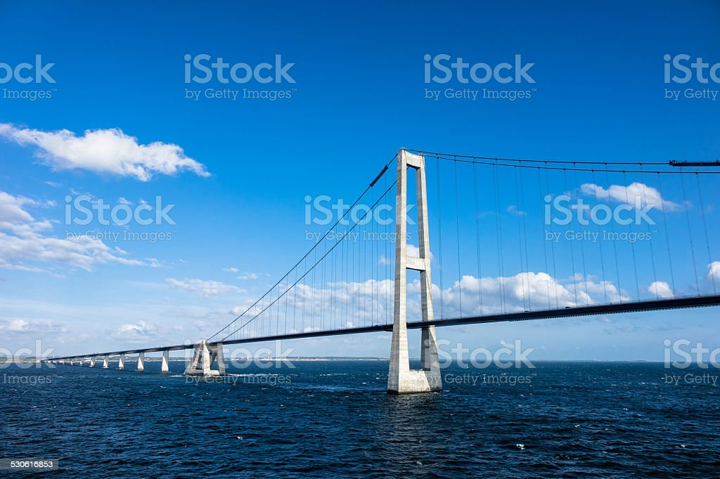 Oeresund bridge stock photo