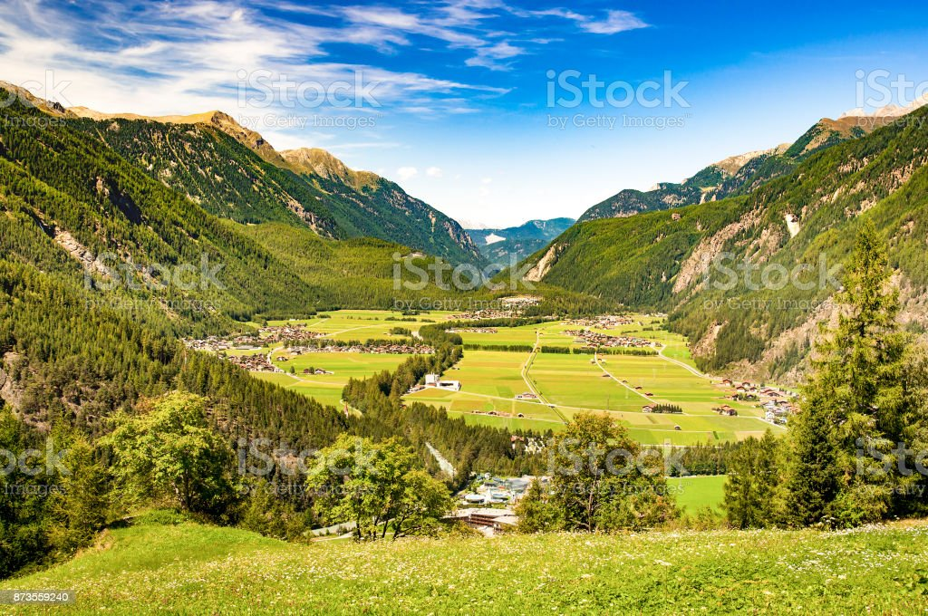 Oetztal valley in Austria stock photo