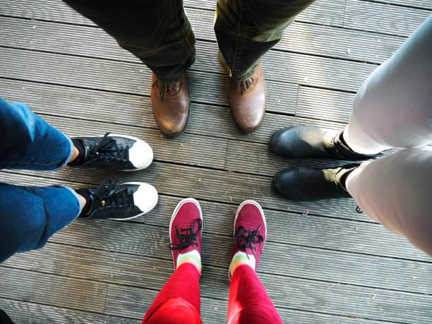4 eine art - granny legs stock-fotos und bilder