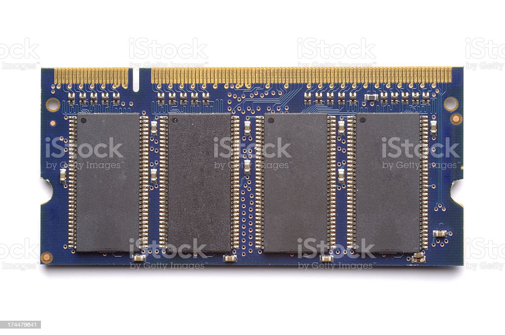 RAM of a Laptop Computer stock photo